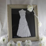 Hand cut silhouette of wedding dress
