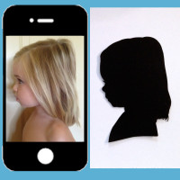 custom hand cut silhouette