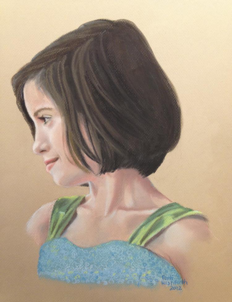 Elizabeth in pastel