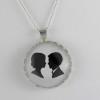 silhouette pendant, cameo pendant, necklace, cameo