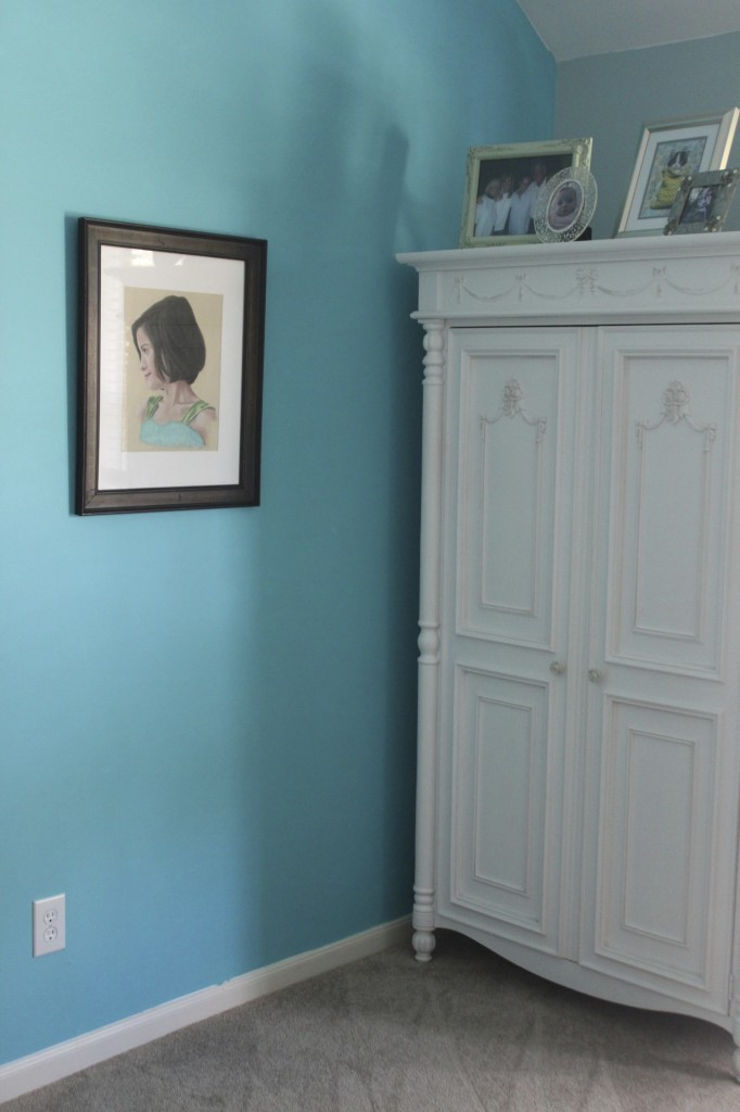 We could have just painted the whole room this color... but the chevron is so fun!