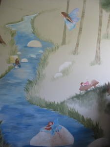 Another angle of the brook with fairies.