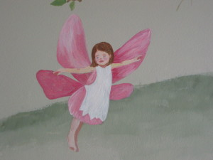 A Fairy in flight