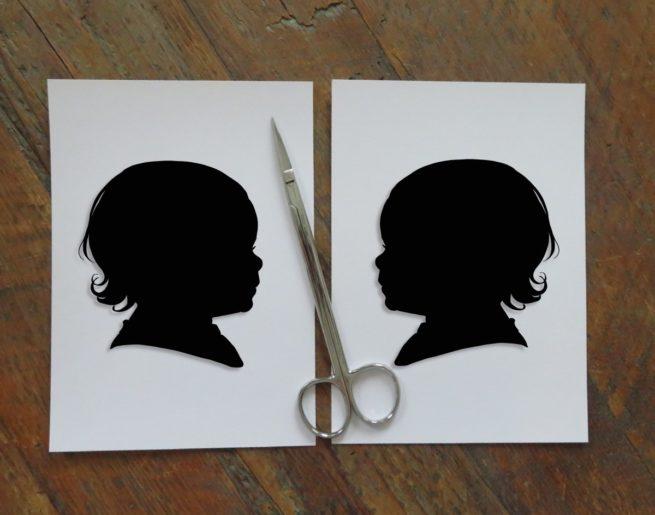 hand cut silhouettes
