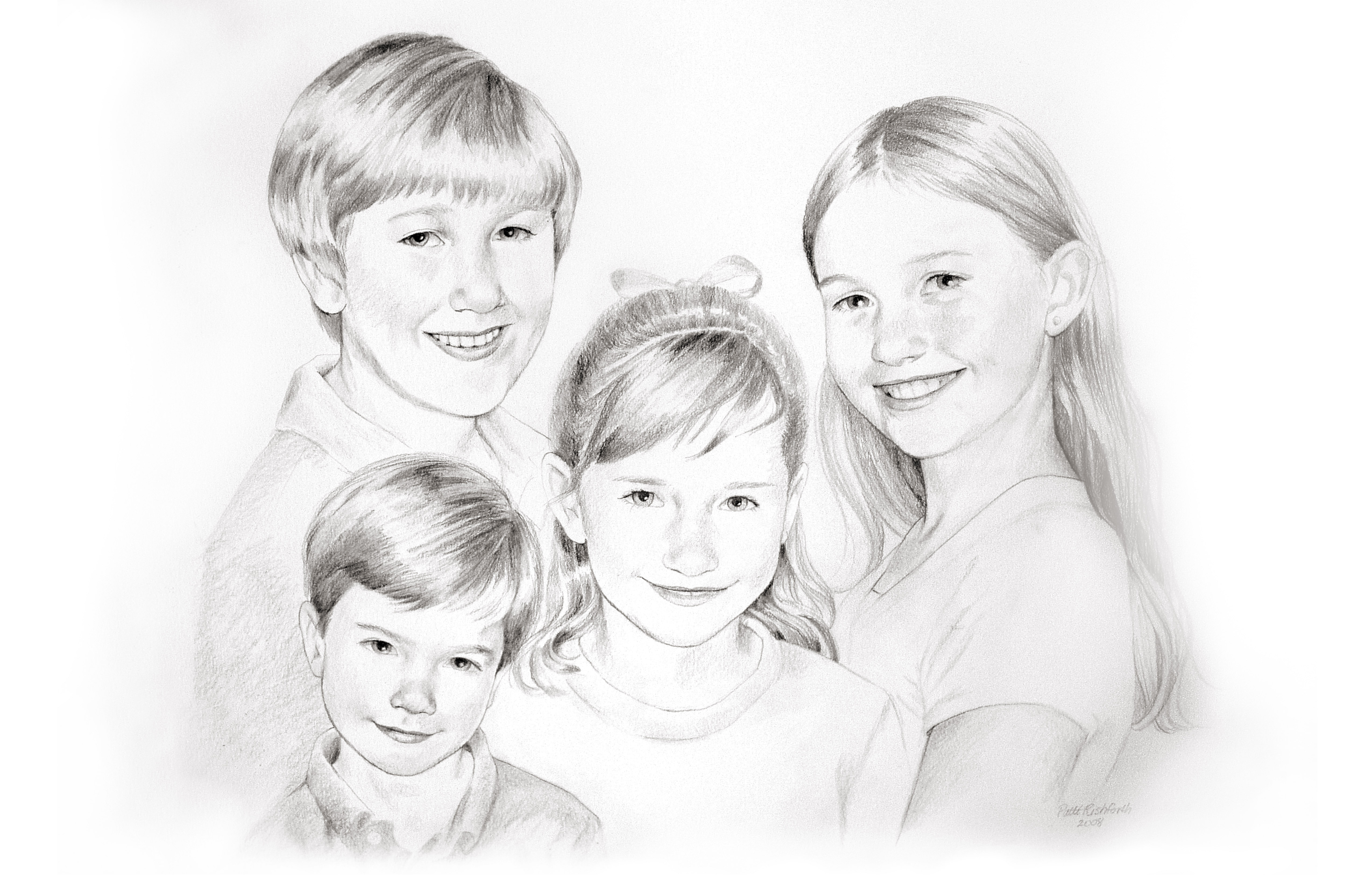 Kids sketched from pics I   took quickly at a boutique