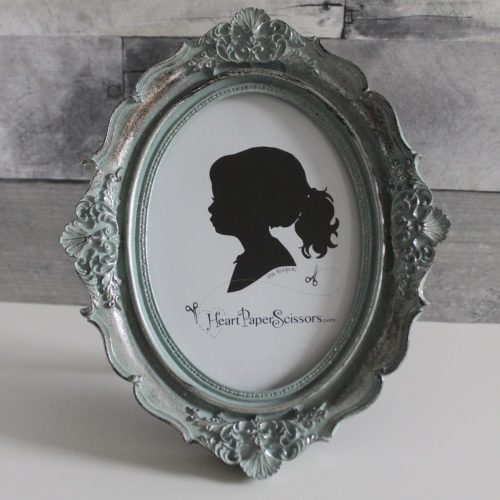 french blue oval frame