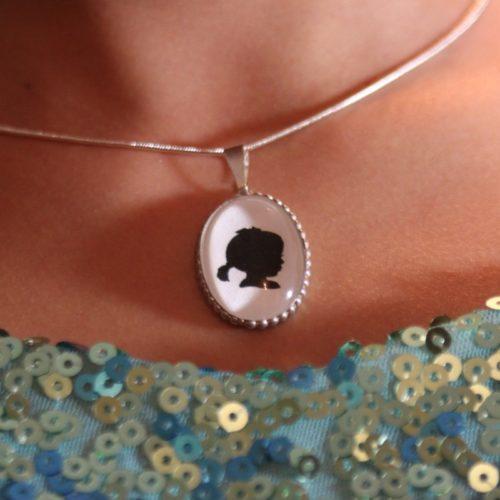 glass dome silhouette pendant