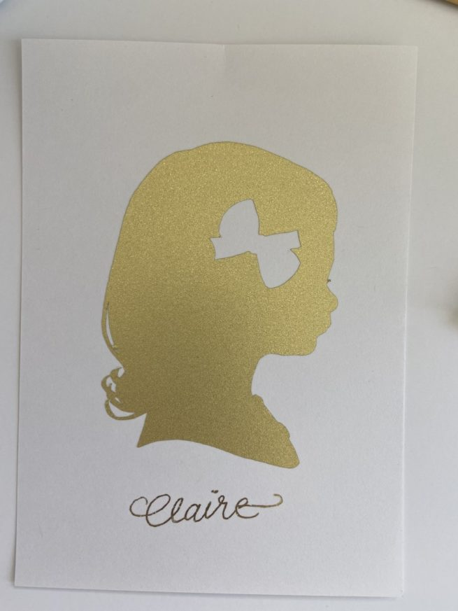 gold silhouette