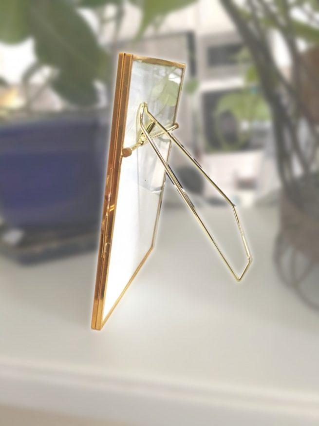 gold metal floating frame