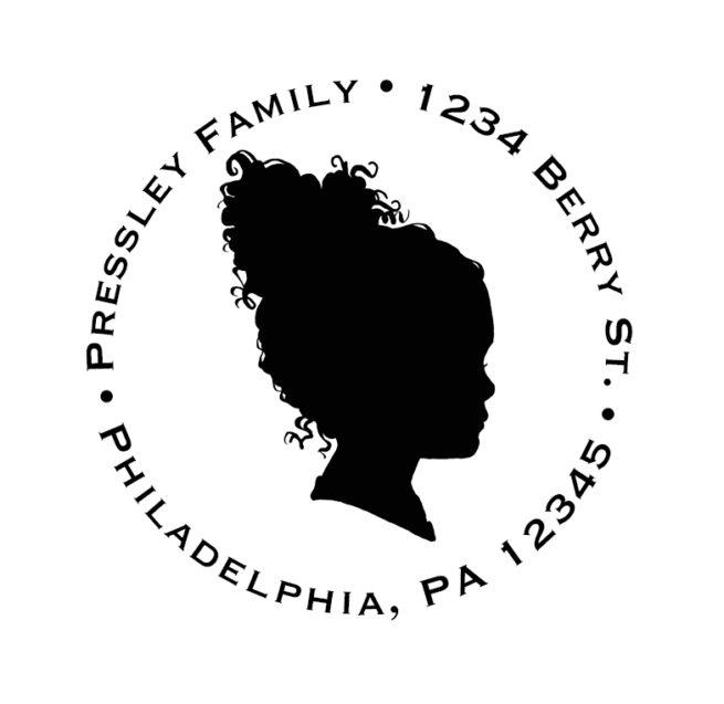silhouette return address stamp