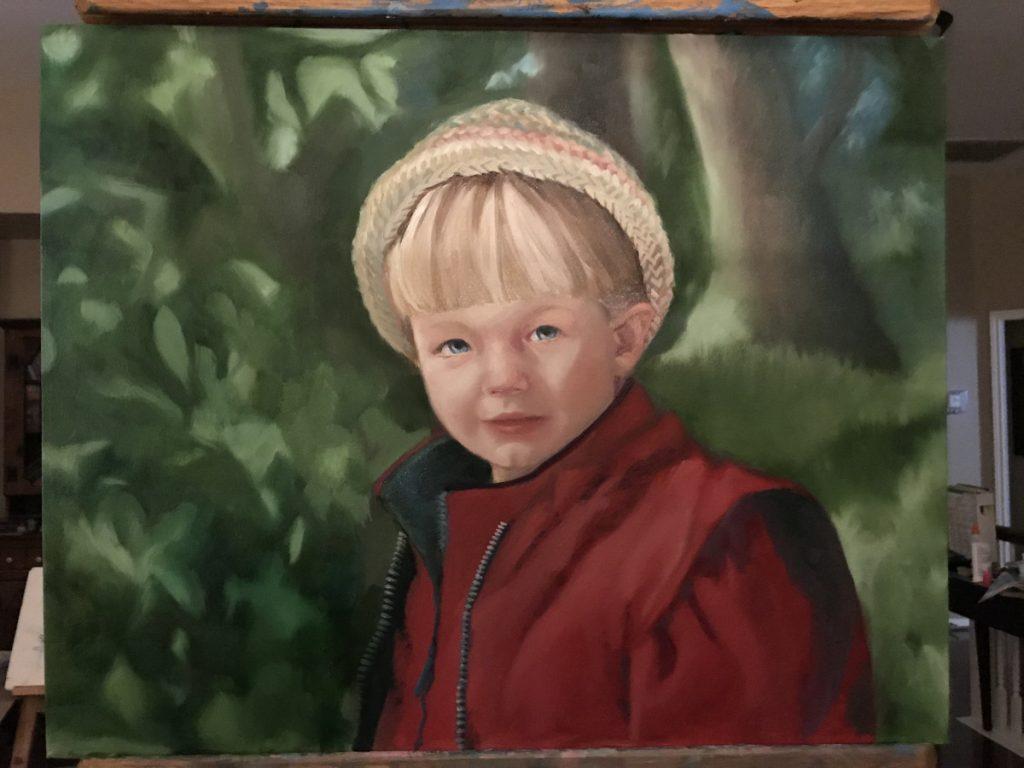 oil portrait boy