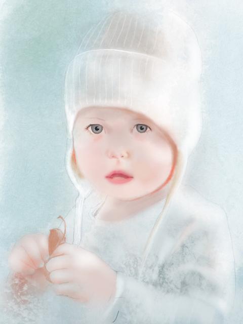 girl knit cap light palette