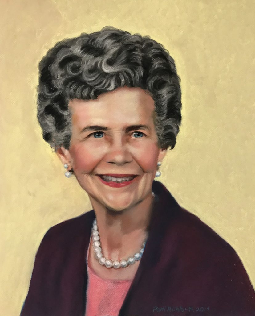 grandmother pastel portrait