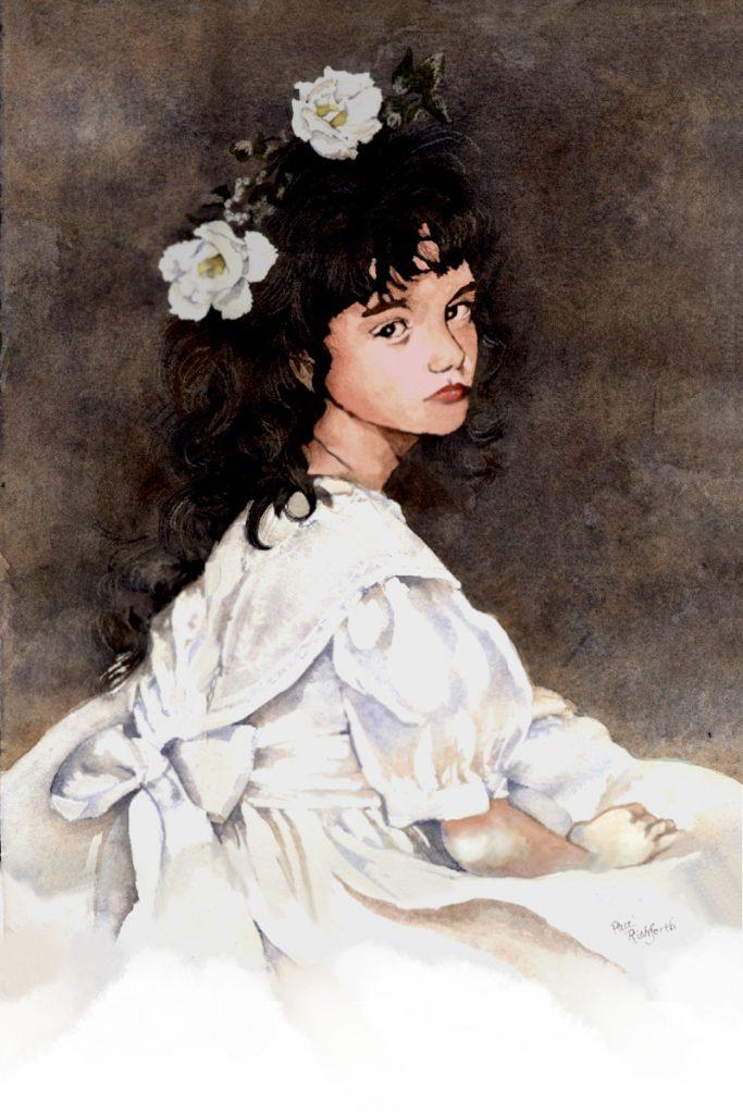 flower girl in watercolor